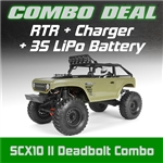 Axial SCX10 II Deadbolt 4WD RTR Combo with Charger and 3S LiPo Battery