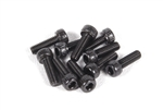 Axial M2.6x8mm Cap Head (Black) (10pcs)
