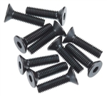 Axial Hex Socket Flat Head M3x12mm Black (10)