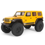 Axial SCX24 RTR with Jeep Wrangler JL Unlimited Body Yellow