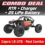 Axial Capra 1.9 Unlimited Trail Buggy RTR - Red Combo with Charger and 2S LiPo Battery