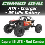 Axial Capra 1.9 Unlimited Trail Buggy RTR - Red Combo with Charger and 3S LiPo Battery
