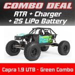 Axial Capra 1.9 Unlimited Trail Buggy RTR - Green Combo with Charger and 2S LiPo Battery