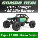 Axial Capra 1.9 Unlimited Trail Buggy RTR - Green Combo with Charger and 3S LiPo Battery