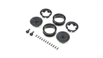 "Axial 1.9"" MW19 Beadlock Wheels Black (2pcs)"