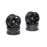"Axial 1.0"" Rockster Wheels, Black (4)"