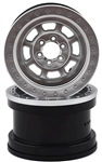 "Axial 2.2"" Trail Ready HD Beadlock Wheels - Satin Chrome (2)"