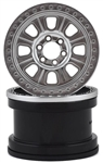 "Axial 2.2"" Raceline Monster Beadlock Wheels - Satin Chrome (2)"
