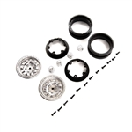 Axial 1.9 KMC Machete Beadlock Wheels - Satin (2)