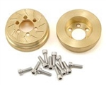 "Beef Tubes Beef Patties Scale Brake Rotors/Weights 1.9"" (SLW) - Brass (2)"