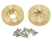 "Beef Tubes Beef Patties Scale Brake Rotors/Weights 2.2"" (SLW) - Brass (2)"