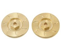 Beef Tubes Beef Patties Scale Brake Rotors/Weights (HEX) - Brass (2)