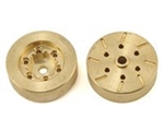 "Beef Tubes Beef Patties Scale Brake Rotors/Weights (1.55"" 6-Lug RC4WD) - Brass (2)"