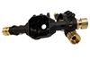 Beef Tubes SCX10 II / AR44 Axle Housing With Pre-Installed Narrowed Spline Beef Tubes (Narrow Brass)