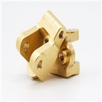 Beef Tubes Element Lower Link / Shock Mounts - Brass