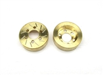 Beef Tubes Beef Patties Scale Brake Rotors/Weights (Gear Head) - Brass (2)