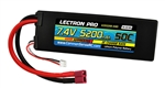 Common Sense RC 5200mAh 2S 7.4V 50C Lectron Pro LiPo Battery - Deans