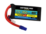 Common Sense RC 1350mAh 3S 11.1V 80C Lectron Pro LiPo Battery - EC3