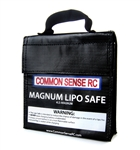 Common Sense RC Magnum Lipo Safe Charging and Storage Bag