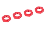 Team Corally 17mm Aluminum Wheel Nuts, Red (4)