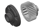 Team Corally Metal Differential Gear with Composite Diff Gear Cover