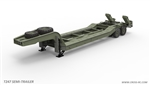 "Cross-RC T247 1/12 Flatbed ""Lowboy"" Trailer Kit for BC8"