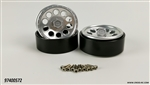 Cross-RC CNC Aluminum Wheels Silver, SU4 (2)