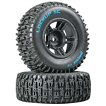 Duratrax Lockup SC Tire C2 Mounted Black Slash 2wd Front (2)