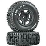Duratrax Lockup SC Tire C2 Mounted Black Slash 4x4, 2wd Rear (2)
