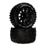 "Duratrax LOCKUP MT BELTED 2.8"" Mounted Front/Rear Tires 14mm Black (2)"
