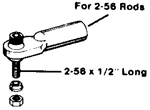 Du-Bro 2-56 Swivel Ball Link (QTY/PKG: 1 )