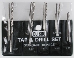 Du-Bro 10-Piece Standard Assorted Tap & Drill