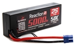 Dynamite Reaction 2.0 5000mAh 2S 7.4V 50C Hardcase LiPo Battery -  EC3