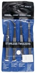 Excel 4 piece tweezer set