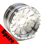 "Gear Head RC 2.2"" Lightweight U4 Race Wheel Spare & Hub, Silver (1)"