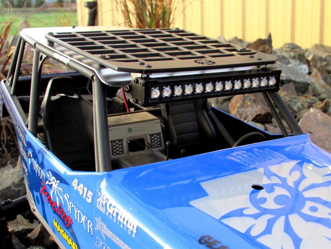 Gear Head RC Axial Wraith White Trail Torch plus Roof Rack Combo