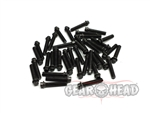Gear Head RC M2 x 10mm Scale Hex Bolts, Black (40)