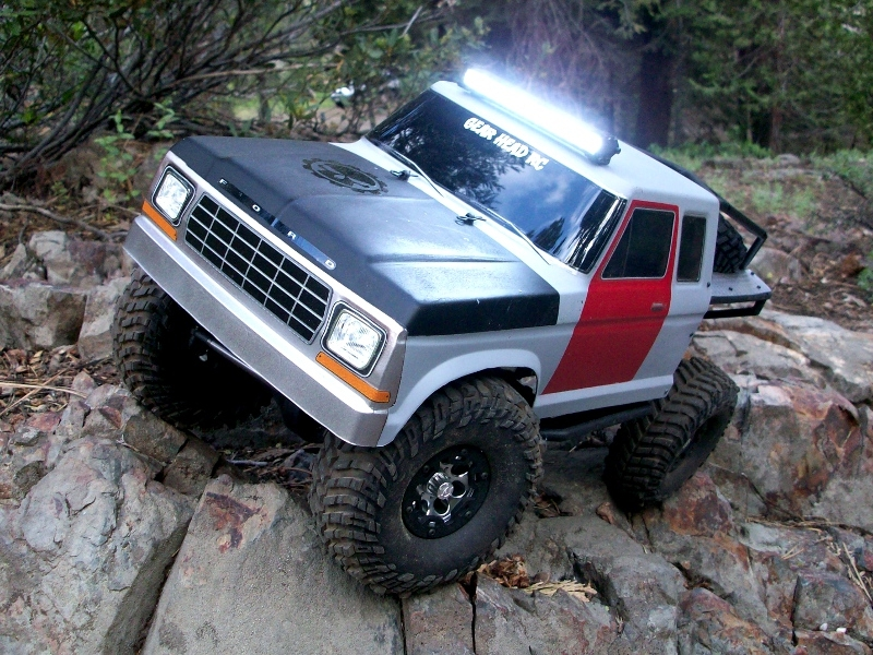 Gear head rc 110 scale trail torch 4 led light bar white aloadofball Images