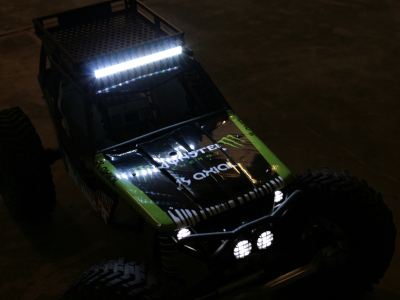 Gear head rc 110 scale trail torch 4 led light bar white aloadofball Gallery