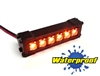 "Gear Head RC 1/10 Scale Six Shooter 2"" LED Light Bar - Amber"