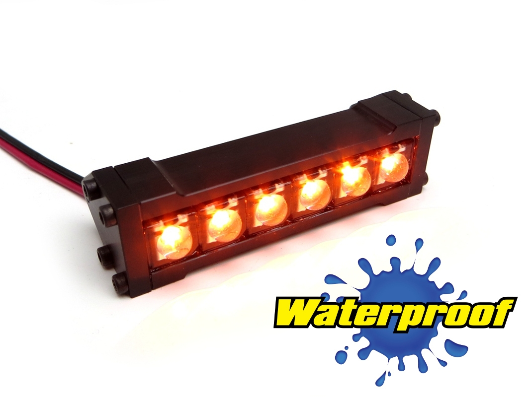 Gear head rc 110 scale six shooter 2 led light bar amber aloadofball Choice Image