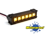"Gear Head RC 1/10 Scale Six Shooter 2"" LED Light Bar - Yellow"