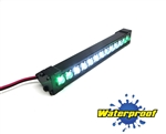 "Gear Head RC 1/10 Scale Trail Torch 4"" LED Light Bar - White and Green"