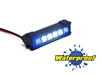 "Gear Head RC 1/10 Scale Six Shooter 2"" LED Light Bar - White and Blue"