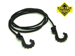 "Gear Head RC 24"" Tow Rope with Hooks, Black"