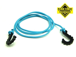"Gear Head RC 24"" Tow Rope with Hooks, Light Blue"