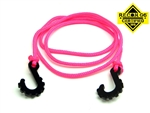 "Gear Head RC 24"" Tow Rope with Hooks, Neon Pink"