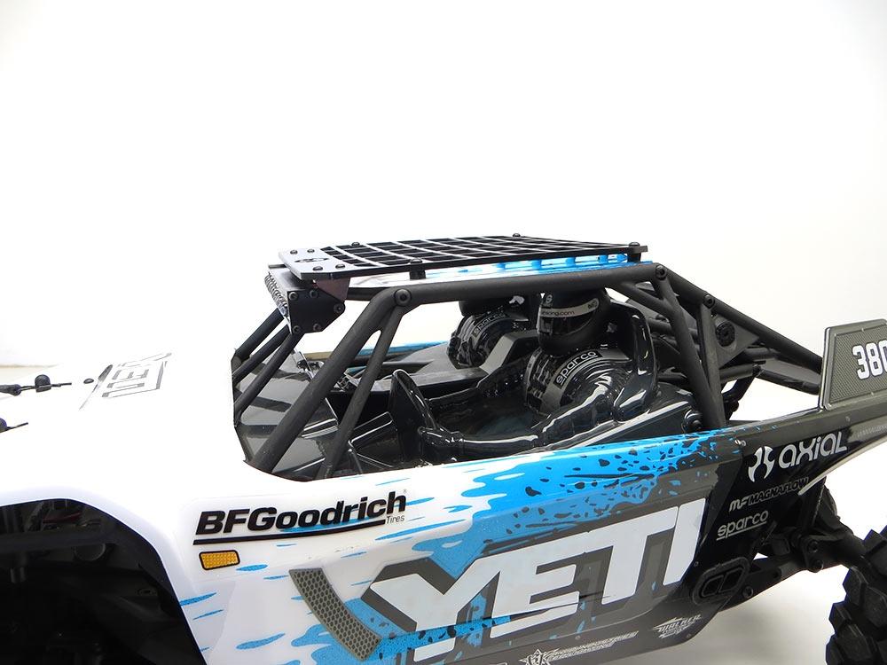 Gear head rc 110 scale yeti slim line roof rack with light bar mount aloadofball Gallery