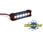 "Gear Head RC 1/10 Scale Six Shooter 2"" LED Light Bar - White and Amber"