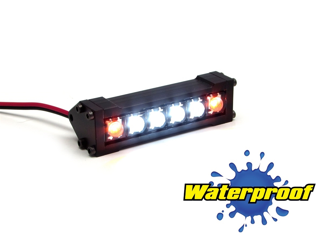 Gear head rc 110 scale six shooter 2 led light bar white and amber aloadofball Image collections